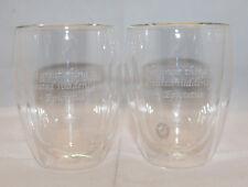 Bodum Pavina Double Wall Glass Coffee Tea Mug Cup Clear 12oz 350ml Set of 2