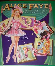 Lovely Alice Faye Movie Star Vintage Reproduction Paper Doll Book