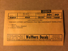 Walthers Seaboard Airline Diesel Locomotive Decals  86-70  HO Scale #1