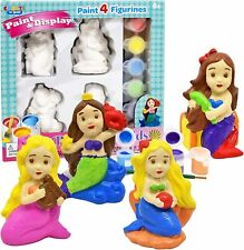 Paint Your Own Figurines Mermaids Painting Kids Set Complete Plaster Craft Kit 6