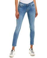 Hudson Jeans Krista Cool Blue Super Skinny Crop Blue Women's