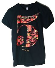 Maroon 5 S.I.N Club T-Shirt 2015 Black American Apparel Size M