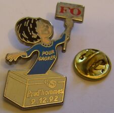 Pins FO pour gagner PRUD'HOMMES 9/12/92 1992 pull bleu