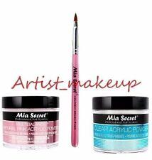 Mia Secret Acrylic Nail Powder Clear + Multibalance 2 oz + Kolinsky Brush# 4OR