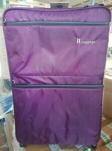 IT Luggage Worlds Lightest Suitcase Potent Purple Medium 69cm New