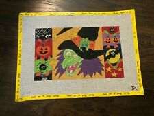 New ListingRenaissance Designs Hand Painted Witch Needlepoint Canvas 18 count