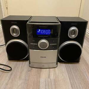 PHILIPS MICRO SYSTEM MC147 COMPONENT SOUND STEREO MUSIC SYSTEM CD FM