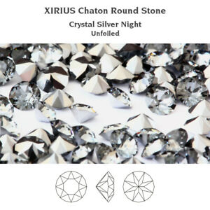 Genuine SWAROVSKI 1088 XIRIUS Chaton Round Unfoiled Clear Crystals * Many Colors