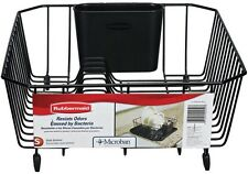Rubbermaid Sturdy Standard Quality Small Black Antimicrobial Dish Drainer