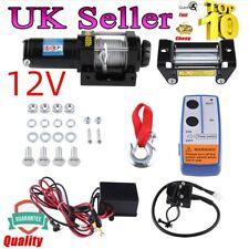 Quality 4000lb 12V Electric Winch Steel Cable Wireless Remote Quad Bike ATV Boat