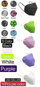 50Pcs 5 Color KN95 Protective 5 Layer Face Mask Disposable Respirator BFE 95%