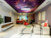 3D Purple Sky Clouds 8 Wall Paper Wall Print Decal Wall Deco AJ WALLPAPER Summer