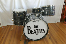 "1960-63 LUDWIG ""Black Oyster Pearl"" drum kit. 22,13,16 & Snare. ""Beatles"""