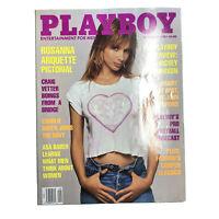 PLAYBOY Magazine Vintage Centerfold September 1990 Rosanna Arquette