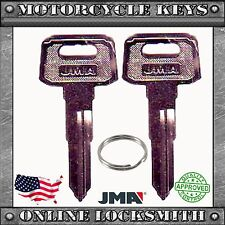 2 New Blank Uncut Key For Yamaha Motorcycles Codes: D32010-D79897- YH49 / YAMA-1