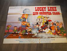 "Orig. Filmplakat : Comic "" Lucky Luke "" Sein größter Trick , Großplakat"