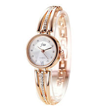Women's Chic Silver Plated Rhinestone Bracelet Dial Quartz Analog Wrist Watch