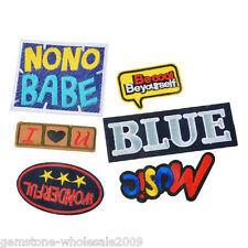 6PCs/Set Mixed Cartoon Letter Cotton Patch Iron On Garment Accessories SJ