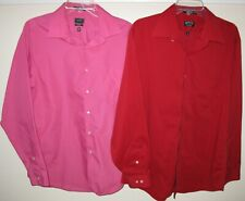 LOT OF 2 ARROW BUTTON UP SHIRTS MENS SIZE L 16.5 - 16 1/2 - 34/35 LONG SLEEVE