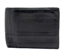 Fossil Mens Leather Bifold Wallet Black