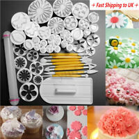 Set 46PCS Sugarcraft Fondant Cake Decorating Icing Plunger Cutters Tools  US1