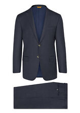 $1895 HICKEY FREEMAN NAVY SHARKSKIN SUPER 170 SUMMER WISH SUIT 46R