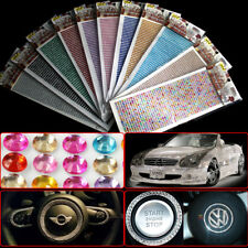 1 Sheet Car Self Adhesive Rhinestone Crystal Diamond Gemstones Decoration Craft