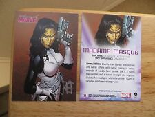 2008 WOMEN OF MARVEL MADAME MASQUE CARD SIGNED BY JIM CHEUNG, WITH POA