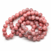 Large hand made Dusky Pink brown speckle jewellery Ceramic Glazed 22mm Beads