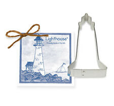 Ann Clark Tin Lighthouse Nautical Cookie Cutter w/ Cookie & Frosting Recipe USA