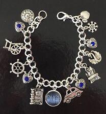 Once Upon A Time Charm Bracelet, OUAT, Fairy Tale Jewellery, Swan, Hook, Fandom