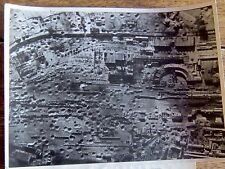 """AIR MINISTRY WW2 LARGE PHOTOGRAPH """" SAINTES RAILWAY YARDS AFTER BOMBING """" 1944"""