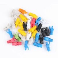 RJ45 CAT5E CAT6 Network Ethernet Patch Cable Plug End Connectors&Boots Cap 20PCs
