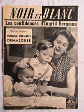 NOIR ET BLANC 486 INGRID BERGMAN/MARTHE RICHARD/ALAIN BOMPARD 1954