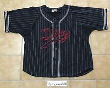 VTG 90s DKNY Donna Karan Pinstripe Baseball Jersey Hip Hop Rap Opening Ceremony