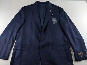 NEW $495 Cremieux Italy Loro Piana Luxury Wool 46 R Navy Blue Jacket Coat Stripe