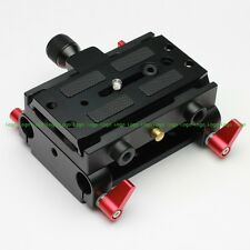 Dovetail Quick Release Base plate fr 15mm Rod Support Rail DSLR Rig Follow Focus