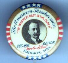 American THRESHERMAN Uncle Silas Madison WI pin FARM FArming MAGAZINE Madison
