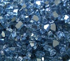 """10 Lbs ~1/4"""" Pacific Blue Reflective Fireglass Fireplace FirePit Glass"""