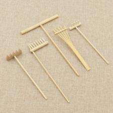 5 Style Mini Bamboo Rake for Zen Garden Sand Tabletop Meditation Feng Shui Craft