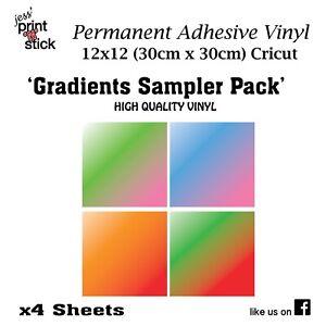 Permanent Adhesive Vinyl - Gradient Sampler Pack 12x12 Cricut