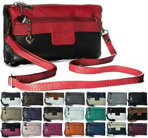 Italian Soft Leather Small Clutch Bag with Multiple Pockets - Ideal for Weddings