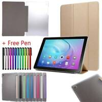 Samsung Galaxy Tab A S2 S3 S4 S5e Slim Smart Magnetic Leather Case Cover Stand
