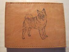 Mens Mankind Leather Rfid Wallet-Norwegian Elkhound Dog Image+Message-Great Gift