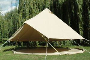 4m Bell Tent | Ultimate | Zippable groundsheet | Quality canvas tent