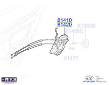 Genuine Hyundai i20 2009- Door Latch Rear LH, Passenger Side - 814101J050