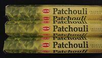PATCHOULI 3 Boxes of 20 = 60 HEM Incense Sticks Bulk Fragrance ~ India