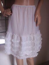 superbe jupon de mariage FLORINE   nylon  vintage  unterkleid full slip REF1528