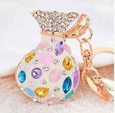 Money drawing purse Keychain Crystal Keyring Key Ring Chain Bag Charm Pendant
