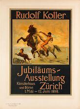 Les Maitres de l'Affiche pl.188 Jubilaum Ausstellung by Rudolf Koller Poster